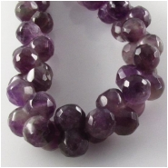 Amethyst peanut gemstone beads (N) Approximate size 7 x 12mm 16 inch