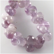Amethyst light color peanut gemstone beads (N) Approximate size 7 x 12mm 16 inch
