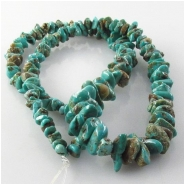 Turquoise Carico Lake graduated nugget gemstone beads (N) Approximate size 3 x 4mm to 6.5 5 x 10mm 16 inch.