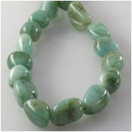 Emerald nugget gemstone beads (O) Approximate size 5 x 6mm to 6 x 9mm 16 inch