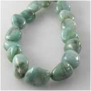 Emerald nugget gemstone beads (O) Approximate size 6 x 7mm to 7 x 10mm 16 inch