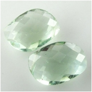 1 Fluorite green AAA faceted fancy pea cut briolette gemstone (N) Approximate size 9 x 15.7mm to 9.5 x 16.3mm