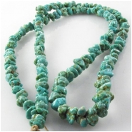 Turquoise Fox graduated nugget gemstone beads (N) Approximate size 4 x 4mm to 6 x 8mm 24 inch