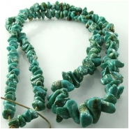 Turquoise Fox graduated nugget gemstone beads (N) Approximate size 3.5 x 5mm to 6 x 11.5mm 24 inch