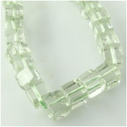 Amethyst greened cube gemstone beads (H) Approximate size 3.7 to 4.7mm 8 inch