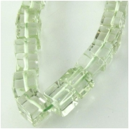 Amethyst greened cube gemstone beads (H) Approximate size 4.3 to 5mm 8 inch