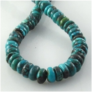 Turquoise Hubei rondelle gemstone beads (S) Approximate size 8mm 15.7 inch