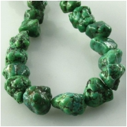 Turquoise Hubei green nugget gemstone beads (S) Approximate size 7 x 8mm to at least 8 x 10mm 15.5 inch