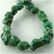 Turquoise Hubei green nugget gemstone beads (S) Approximate size 6 x 7mm to at least 7 x 9mm 15.5 inch
