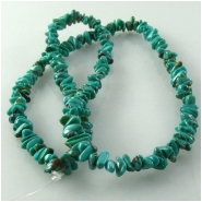 Turquoise Hubei small nugget chip gemstone beads (N) Approximate size 3 x 5mm to 3.5 x 6.5mm 18 inch