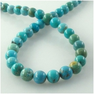 Turquoise Hubei round gemstone beads (S) Approximate size 6mm 16 inch