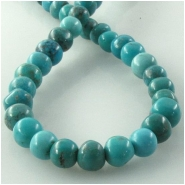 Turquoise Hubei irregular B round gemstone beads (S) Approximate size 7 to 8mm 15.8 inch