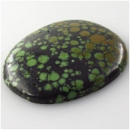 1 Turqoise Hubei cabochon gemstone (S) Approximate size 41 x 47mm