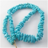 Turquoise Sleeping Beauty graduated nugget Zachery process gemstone beads Approximate size 4.5 x 5mm to 4.5 x 9mm 18 inch