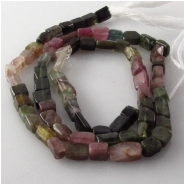 Tourmaline B  irregular rectangle gemstone beads (N) Approximate size 3 x 6mm to 4 x 7mm. 14 inch.