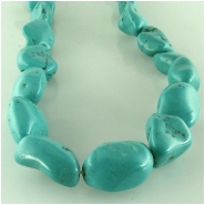 Turquoise Hubei nugget gemstone beads (S) Approximate size 12 x 14mm to 14 x 21mm 15.5 inch