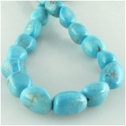 Turquoise Hubei nugget gemstone beads (S) Approximate size 9 x 9mm to at least 10 x 11mm 15.5 inch