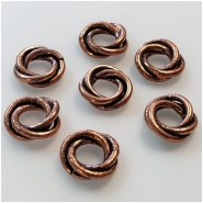 10 Copper Rosette Spacer Beads Approximate size 2.9 x 9.3mm to 3.3 to 9.7mm