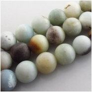 Amazonite matte finish round big hole gemstone beads (N) Approximate size 10mm 7.7 inch 2mm hole