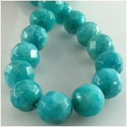 Amazonite faceted round gemstone beads (N) Approximate size 9 to 10mm 15.7 inch