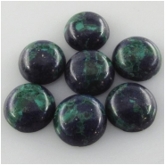 4 Azurite round loose cut cabochon gemstones (S) Approximate size 9.7 to 10.1mm