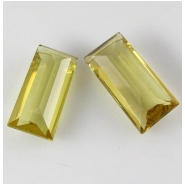 1 Citrine AAA baguette cut briolette pendant gemstone bead (N) Approximate size 8 x 18mm to 9.5 x 18.9mm Top side drilled