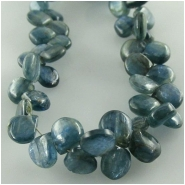 Kyanite plain drop briolette gemstone beads (N) approximate size 5 x 6mm to 6.5 x 7.5mm  8 inch