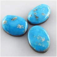 3 Sleeping Beauty cabochon gemstones (N) Approximate size 10.7 x 13.9mm to 10 x 14.9mm Backed
