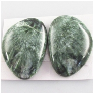 1 Seraphinite AAA gemstone cabochon (N) Approximate size 24 x 35mm