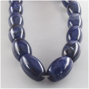Sodalite dark barrel gemstone beads (N) Approximate size 8 x 12mm 16 inch 1mm hole