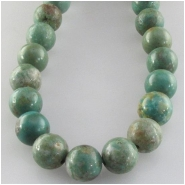 Turquoise Hubei greenish round gemstone beads (S) Approximate size 7.6 to 8.3mm 15 inch