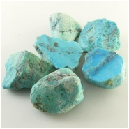6 Turquoise Nacozari rough nugget gemstones (S) Approximate size 29 x 39mm to 38 x 46mm