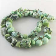 Prince variscite nugget gemstone beads (N) Approximate size 8 x 8mm to 16 x 22mm 18 inch