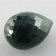 1 Emerald faceted tear drop briolette pendant gemstone bead (DH) Approximate size 11 x 17mm to 13 x 18.9mm top side drilled