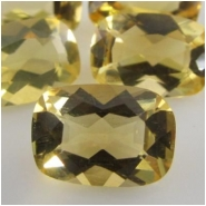 1 Citrine faceted cushion loose cut gemstone (H) Approxmately 7 x 10mm CLOSEOUT