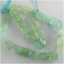 Fluorite varigated color faceted rectangle gemstone beads (D) Approximately 9 x 10mm up to 12 x 13mm depending on strand 15 inch