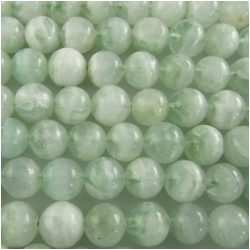 Fluorite mint green with quartz round gemstone beads (N) Approxmately 10mm 15.7 inch
