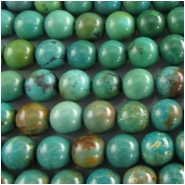 Turquoise Maan Shan round gemstone beads (S) Approximately 8mm 15.5 inch