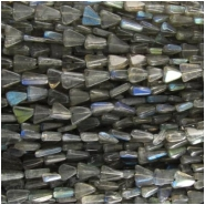 Labradorite B hand cut irregular triangle gemstone beads (D) Approximately 4 x 6 to 7mm  13.5 to 14 inch CLOSEOUT