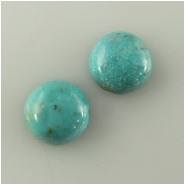 2 Turquoise Hubei round cabochon loose cut gemstones (S) Approximate size 10mm