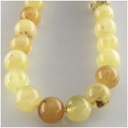 Amber butterscotch round gemstone beads (N) Approximate size 6mm 6.1 to 6.6mm 16 inch