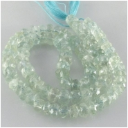 Aquamarine faceted rondelle gemstone beads (N) Approximate size 5.5 to 6.7mm 14.5 inch