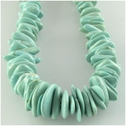 Turquoise Campitos graduated green flat nugget gemstone beads (S) Approximate size 4 x 4.4mm to 6 x 9.7mm 18 inch