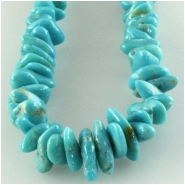 Turquoise Campitos graduated blue nugget gemstone beads (S) Approximate size 4 x 4.5mm to 6.3 x 8.9mm 18 inch