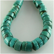 Turquoise Hubei heishi CLOSEOUT gemstone beads (S) Approximate size 7 to 7.9mm 15.3 inch