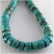 Turquoise Hubei heishi CLOSEOUT gemstone beads (S) Approximate size 8 to 9mm 15.5 inch