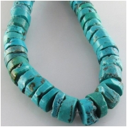 Turquoise Hubei heishi CLOSEOUT gemstone beads (S) Approximate size 10 to 11mm 15.5 inch