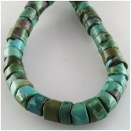 Turquoise Maan Shan heishi  gemstone beads (S) Approximate size 7.5 to 8mm 15.5 inchCLOSEOUT