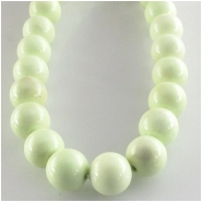 Lemon Chrysoprase round gemstone beads (N) Approximate size 8mm 16 inch