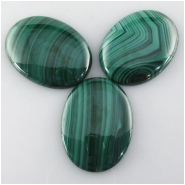 1 Malachite AAA oval gemstone cabochon (N) Approximate size 30 x 39mm to 30 x 40mm